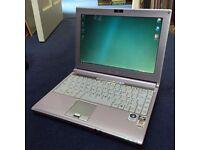 """MSI PR210 Pink Laptop AMD Dual Core 5GB RAM 320GB Hard Disk 12"""" Colour Screen"""