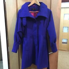 Miss selfridge coat size 8