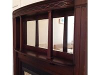 Fireplace complete with over mantel mirror £125