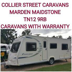 2009 bailey pageant burgundy 4 berth fixed bed caravan