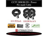 20M RG59 + Power Pre-made CCTV Cable