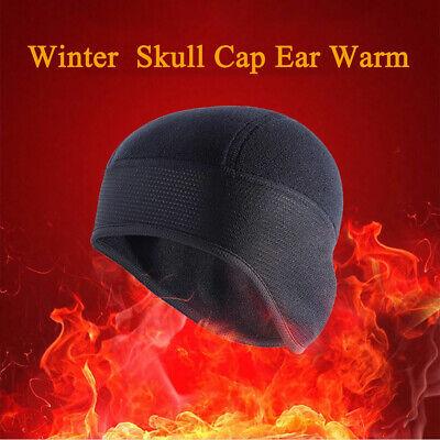 Winter Skull Cap Fleece Helmet Liner Ski Cycling Windproof Beanie Hat Ear Warmer