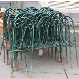 Fifteen plus Two Decorative Metal Grass Lawn Edging, Path Border or Flower Bed Side
