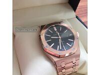 """Audemars Piguet, Royal Oak 41mm, Rose Gold, Black Dial, Swiss ETA, Sapphire glass 23/08/17"""""""""""""""""""