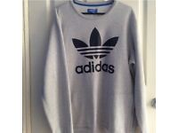 Grey Adidas Trefoil Sweatshirt