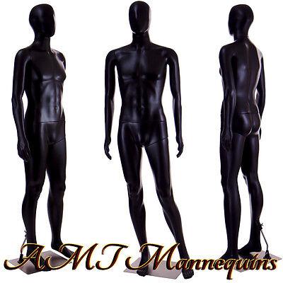 Male Mannequin 6ft Halloween Display Manquin Plastic Black Manikin-mc-2b