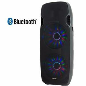 """Gemini AS-215BLU-LT Powered Dual 15"""" Speaker w/LED Array and Bluetooth Now for the first time in Canada ( dj pa party )"""