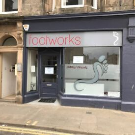 Shop to let in Elgin town centre. Suitable for Beautician, Podiatrist, Office etc