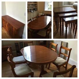 Matching dark wood furniture - lounge/ dining room