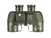 Brand New BNISE Military HD Binoculars, Navigation Compass and Rangefinder, 10x50