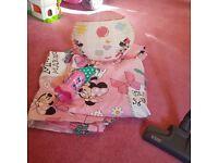 Minnie mouse curtains, light, clock etc