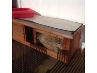 Rabbit hutch. Good condition. Suitable for two bunnies or guinea pigs