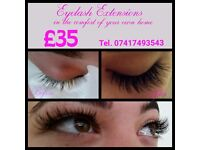 !!! £35!!! Individual Eyelash extensions . Mobile therapist!
