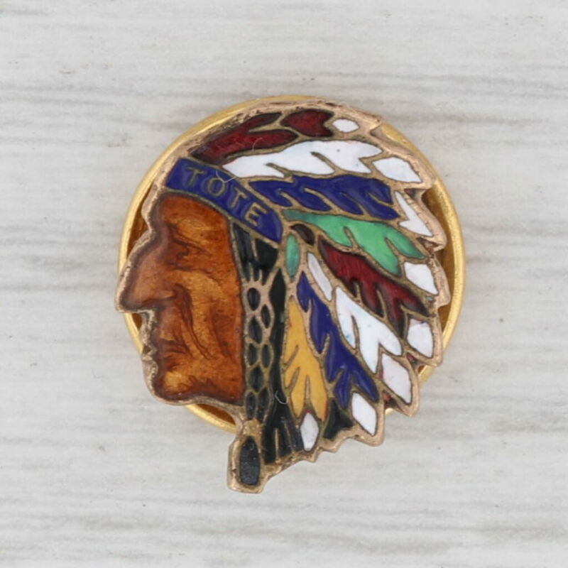 Order of Redmen TOTE Pin Vintage Indian Chief Lapel Fraternal Keepsake
