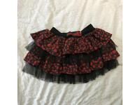 Bye bye kitty goth emo short skirt ruffle