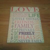 "VERY CUTE ""LOVE"" CANVAS PICTURE"