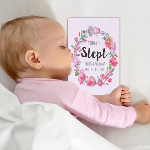 12PC Baby Milestone Photo Cards Age Markers & Unique Firsts Baby Shower Gift Set