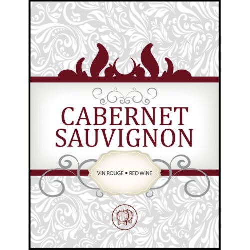 Cabernet Sauvignon Adhesive Wine Bottle Labels - 30-Pack