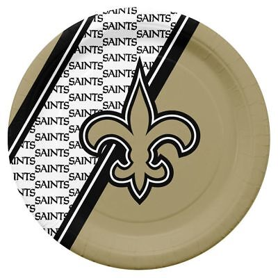 Saints Party (New Orleans Saints Disposable Paper Plates 20 Pack Party Tailgate FAST)