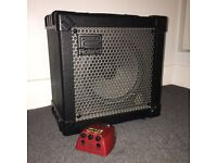 Roland Cube 15x Amplifier and FAB Distortion Pedal
