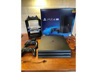 PS4 Pro 2 Controllers 2Games & Charging Dock with Game Storage