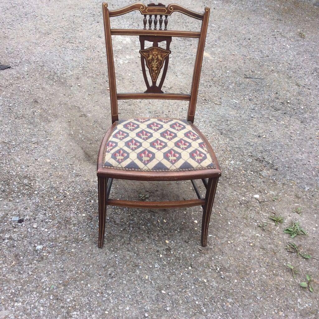 Beautiful Oak Edwardian Hall Chair