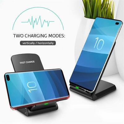 Qi Wireless Fast Charger Charging Pad Stand Dock for Samsung and IPHONE
