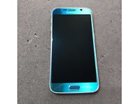 SAMSUNG GALAXY S6 32GB SIMFREE IN BLUE TOPAZ COMES WITH CHARGER AND THREE MONTHS WARRANTY