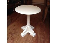 Painted Cream solid Oak Table - bedroom - Hall - kitchen - Bistro