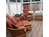 Conservatory Suite (wicker) includes Coffee Table and Foot Stool