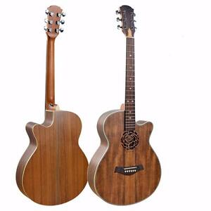 Acoustic Guitar Unique style 40 inch Walnut iMG845 iMusicGuitar