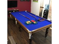 3/4 size slate bed snooker table