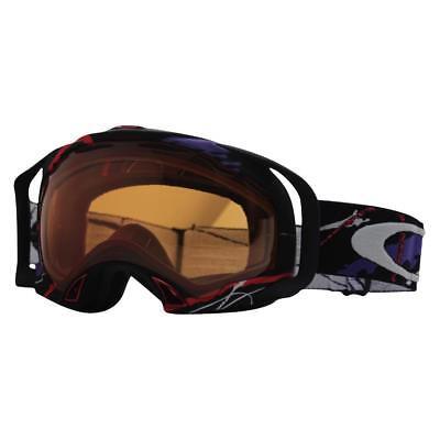 Oakley 57-603 SIMON DUMONT SPLICE Black Persimmon Lens Mens Snow Ski Goggles .