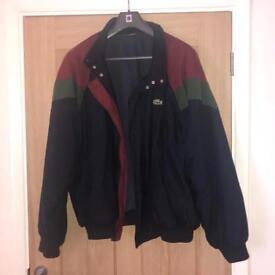 Rare Lacoste Bomber Jacket Coat Size XL