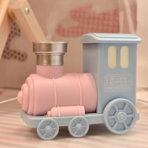 Train Shape USB Ultrasonic Air Purifier Aroma Diffuser Mist Humidifier Pink