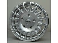 """18"""" Silver AMS Transit Style Wheels & Tyres 5x160"""