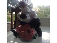 Absolutely stunning Pepe Le Phew cookie jar