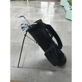 Golf clubs + Golf bag