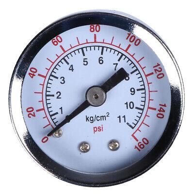 Air Pressure Gauge Compressor Hydraulic Meter 160psi Side Mount 18 Inch Npt