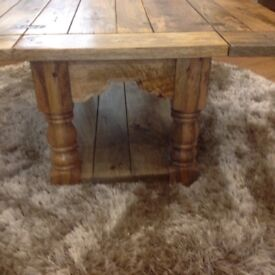 SOLID OAK MANGO COFFEE TABLE