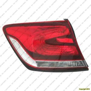 Tail Light Driver Side Sedan Honda Civic 2013-2015
