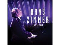 Hans Zimmer Tickets London x2 AMAZING SEATS!!
