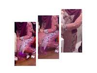 Coral Pink Shalwar Kameez Trouser Shaadi Wedding Bridal Suit