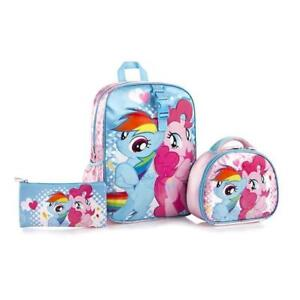 Heys My Little Pony Kids Backpack with Lunch Bag and Pencil Case 15 Inch