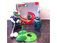 Vintage remote control golfer/adult desktop / toy /game