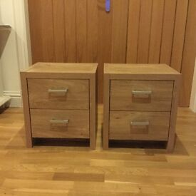 Set of drawers and two bedside tables