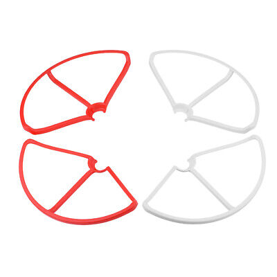 4 Stück Propellerschutzring für xiaomi mi drone 1080p / 4k rot + weiß