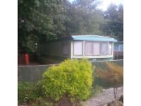 LOVELY STATIC CARAVAN WITH LARGE FENCED PLOT IN QUIET LOCATION - FISHING LAKES INC - CHEAP SITE FEES