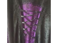 Gothic/ Wedding Dress / Halloween Party / Plus Size 20-22 / Vampire / Witch/ Pagan /Lace Black