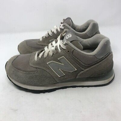 New Balance Womens Classic 574 Running Shoes Gray W574GS Low Top Suede Lace Up 7